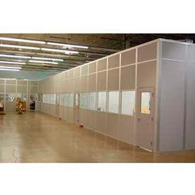 Bureaux de ebtech modulaire d'inplanta - acier panneau, feu de classe A & 28 SC évalué (cadre aluminium)