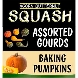 Squash Grocery Signs