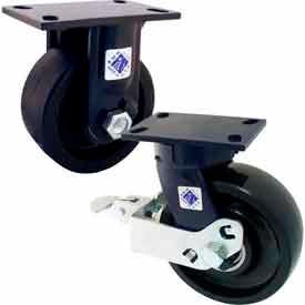 RWM 75 Series Heavy Duty Kingpinless™ Casters - up to 6000 Lb. Capacity