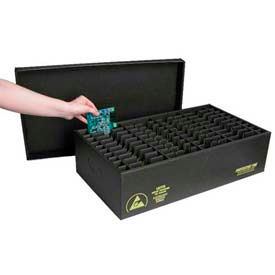 ESD In-Plant Handle Containers with Fixed Dividers