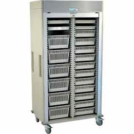 Harloff MedstorMax Preconfigured Double Column Mobile Cabinets With Trays/Wire Baskets