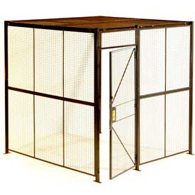 WireCrafters® Style 840 Woven Wire Partition modular System Rooms - Preconfigured