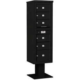Salsbury 3400 Series 4C Horizontal Single Column Pedestal Mailboxes Without Parcel Lockers