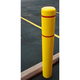 Bollard Cover With Red Reflective Tape