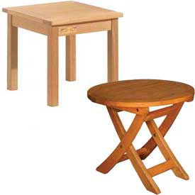 Outdoor Hardwood Accent Tables