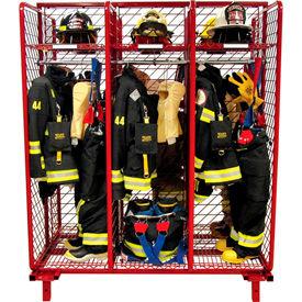 Rack™ rouge rouge Gear pompiers rangement Rack