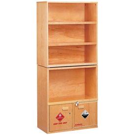 SciMatCo rayonnages armoires en bois naturel sans métal inflammables