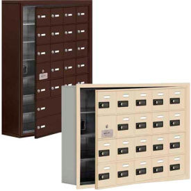Salsbury 19100 Series Cell Phone Lockers, Surface Mounted, Resettable Combination Lock with Front Master Access Panel