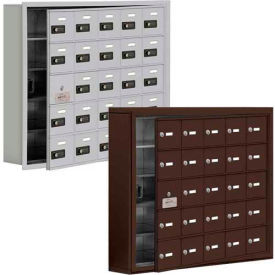Salsbury 19100 Series Cell Phone Lockers, Recessed Mounted, Resettable Combination Lock with Front Master Access Panel