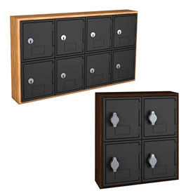 Compact Wood & Plastic Cell Phone Lockers