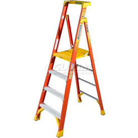 Werner Fiberglass Podium Ladders - CSA Approved