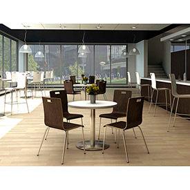 KFI - JIVE Series Round Table & 4 Wood Chair Set