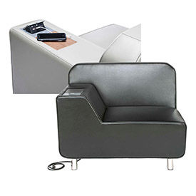 OFM - Serenity Lounge Chairs with Hidden Electrical Recharge Panel