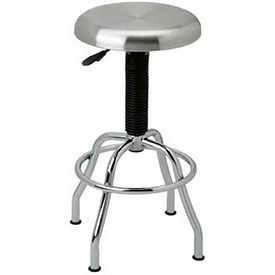 Pneumatic Work Stool with Stainless Steel Seat