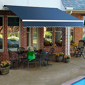 Awntech 10'W Heavy-Duty Motorized Retractable Awnings