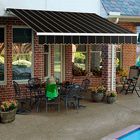 Awntech 12'W Heavy-Duty Motorized Retractable Awnings