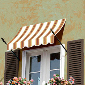 Awntech 3-3/8'W Spear Arm Awnings with Crescent Slope