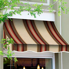 Awntech 5-3/8'W Crescent Shaped Awnings