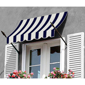 Awntech 10-3/8'W Spear Arm Awnings with Crescent Slope