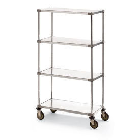 Metro® Super Erecta® Stainless Wire & Galvanized Shelf Trucks