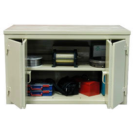 Strong Hold® Cabinet Workbenches With Bi-Fold Doors