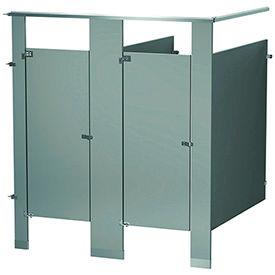Bradley Between Wall and In-Corner Powder Coated Steel Bathroom Compartments