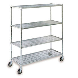 Square Post Wire Shelf Trucks
