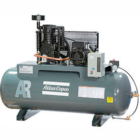 Two-Stage Piston Compressors, Horizontal, 3-Phase