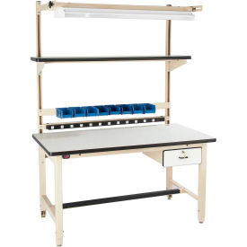 Global Industrial™ Bench-In-A-Box Adjustable Height Workbenches