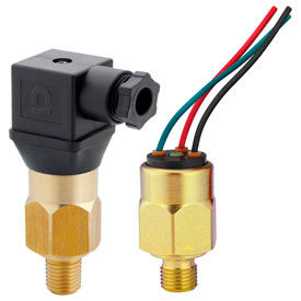 PVS Sensors, Pressure Switches, Low Pressure, Brass Housing