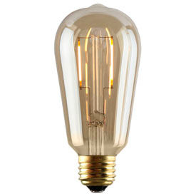 Lampes à incandescence de LED ambre nostalgie