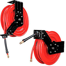 Global™ Industrial Spring Retractable Steel Hose Reels