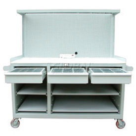 Mobile Cabinet Workstations With Riser