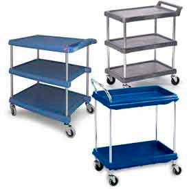Metro Chrome Post Utility Carts