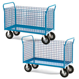 RELIUS ELITE Premium All Welded Platform Trucks with Wire Side Panels