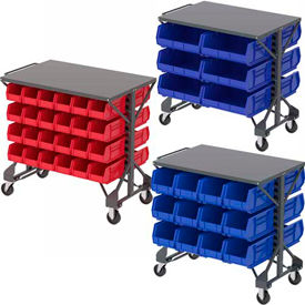 Akro Mills Shelf Top Bin Carts