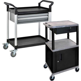 Luxor 250 Lb. Capacity Utility Carts With Cabinets