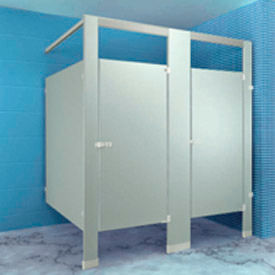 Metpar Overhead-Braced Stainless Steel Bathroom Compartments