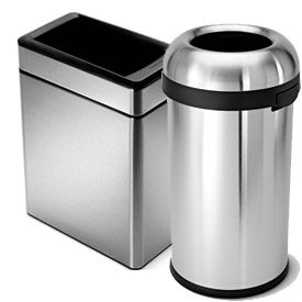 simplehuman® Stainless Steel Trash Cans