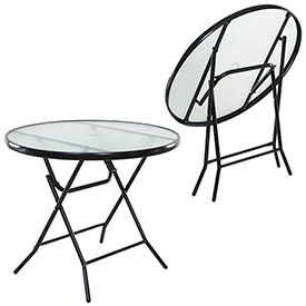 Outdoor Glass Top Tables