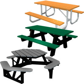 Global Industrial™ Tables de pique-nique en plastique recyclé
