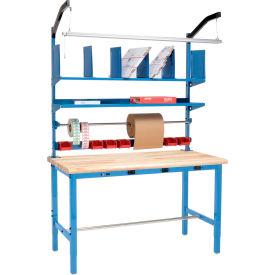 Global Industrial™ préconfiguré de travail d'emballage électrique avec kit Riser