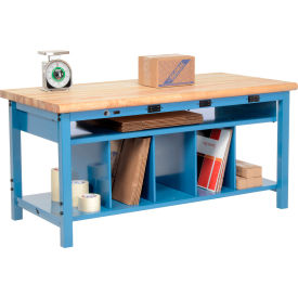 Global Industrial™ Pre-Configured Electric Packing Workbench with Lower Shelf Kit