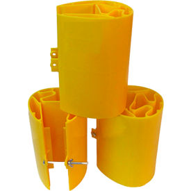 Protecteur de rack en plastique de veste jaune