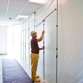 Barrière de poussière de protection de mur de Zipwall