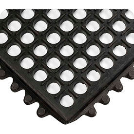 Wearwell WorkRite Black, 1/2in Drainage Mat