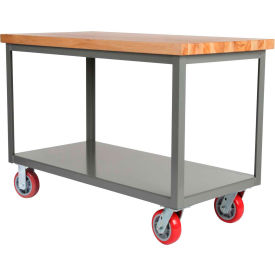Mobile Butcher Block Top Mobile Table
