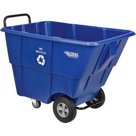 Global Recycling Blue Plastic Tilt Truck 1/2 cu yard