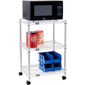 Nexel® Poly-Z-Brite® Wire Microwave Carts