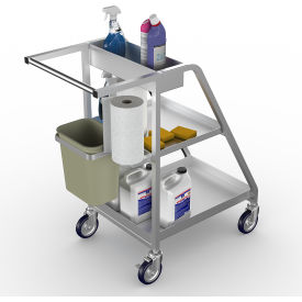 Aluminum Sanitation Cleaning Cart